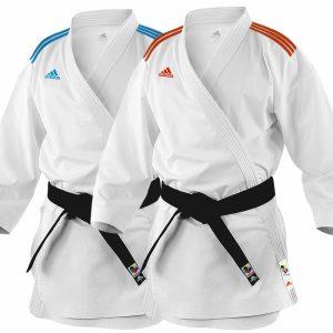 Adidas Adi-Zero Kumite Karate Uniform – 4.5oz – Blue Red
