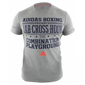 Adidas Boxing Slogan T-Shirt – Grey