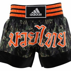 Adidas Camo Thai Boxing Shorts Large Print