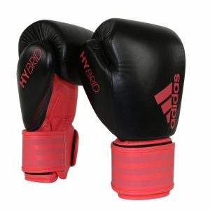 Adidas Hybrid 200 Boxing Gloves – Shock Red – 10 + 12oz
