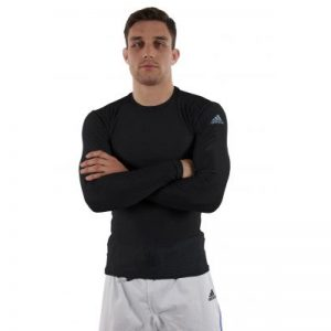 Adidas Long Sleeve Compression T-Shirt – Black