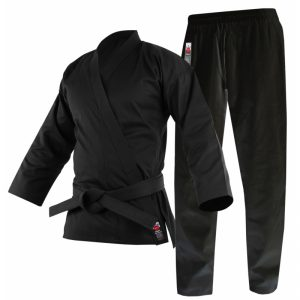 Cimac Student Karate Uniform – Black 8oz