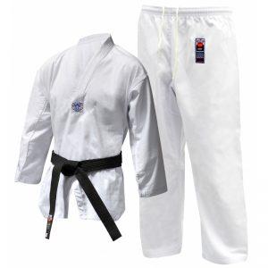 Cimac WTF Style Taekwondo Suit Printed – White