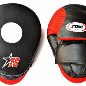 T-Sport Curved Focus Mitts – Black Red