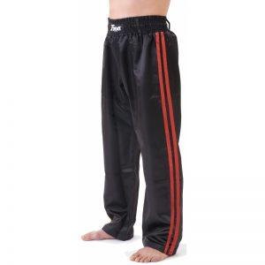 T-Sport Kickboxing Satin Trousers – 2 Red Stripes