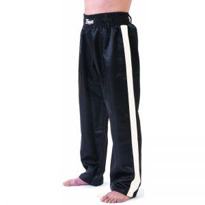 T-Sport Kickboxing Satin Trousers – White Stripe