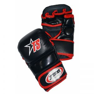 T-Sport MMA Sparring Gloves – Black Red