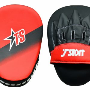T-Sport Striped Focus Mitts – Black Red